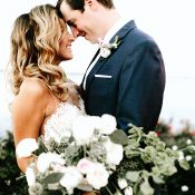 Glam Greenery Wedding on the Lakeside