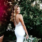Illusion Back Wedding Dress for a Sexy Tuscan Inspired Wedding