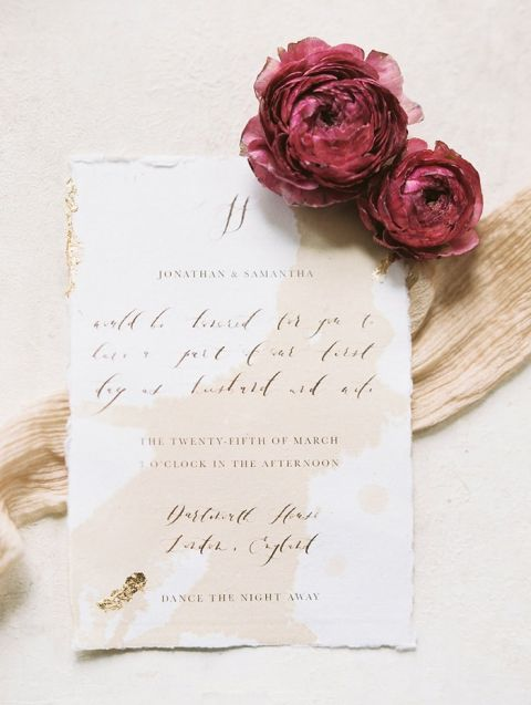 Peach, Gold, and Burgundy Wedding Inspiration