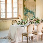 Luxurious Purple and Blush Spring Wedding Decor