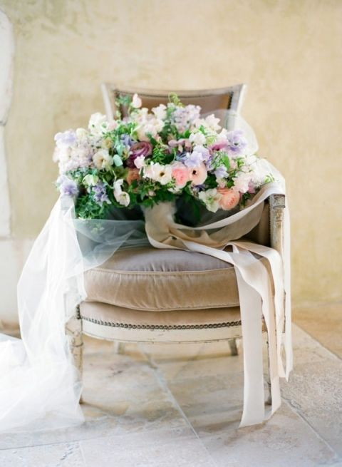 Purple and Blush Spring Bouquet