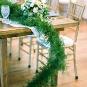 Farm Table with a Rustic Greenery Runner