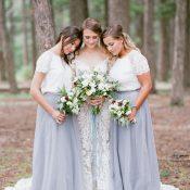 Romantic Pastel Woodland Wedding