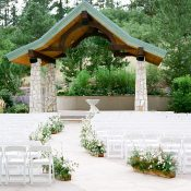 Romantic Outdoor Chapel Wedding Ceremony