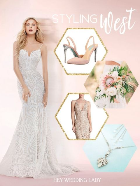 Styling The Hayley Paige Blush West Wedding Dress Hey Wedding Lady
