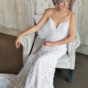 Bride in West Wedding Dress from Blush by Hayley Paige