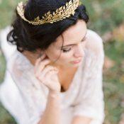 Gold Leaf Bridal Crown