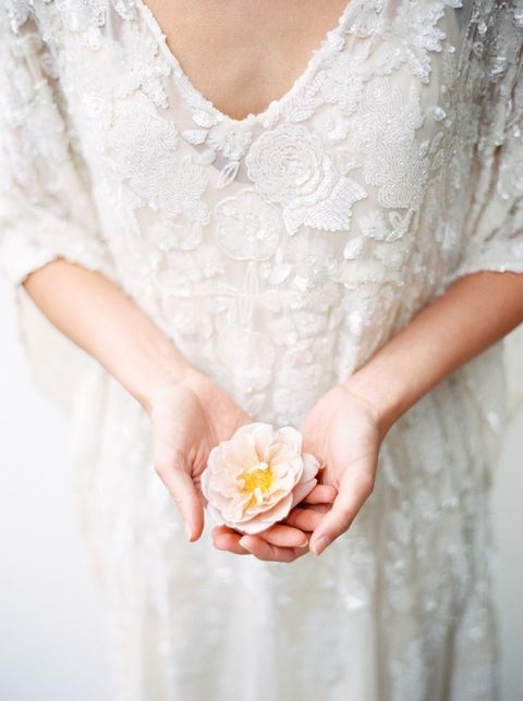 Beaded Lace Wedding Dress for a Romantic Bohemian Bride