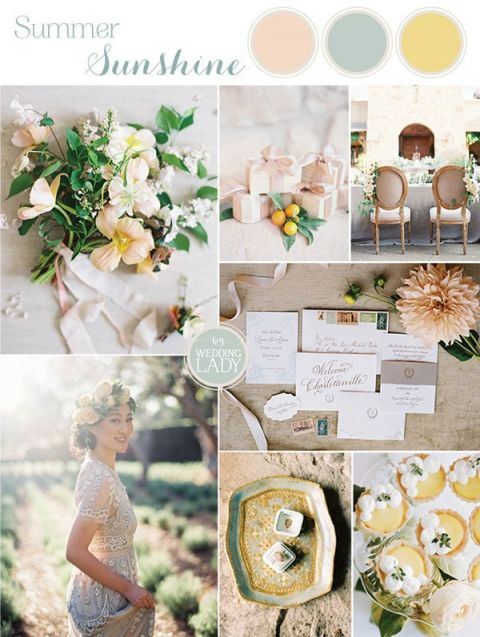 Summer Citrus Wedding Colors with Sunshine Yellow