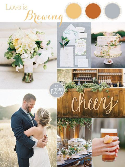 Brewery Wedding Inspiration with a Rich Summer Palette