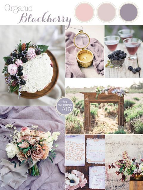Find your summer 2017 wedding color style hey wedding lady rustic summer blackberry wedding ideas with fresh fruit junglespirit Images
