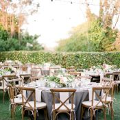 Romantic Rustic Garden Wedding with Twinkle Lights