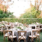 Romantic Rustic Garden Wedding with Twinkle Lights