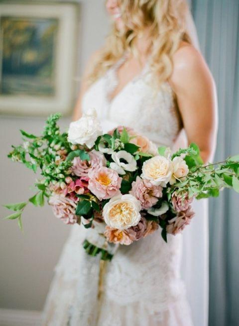 Natural Garden Bouquet for a Creative Garden Wedding