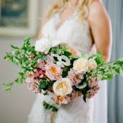 Natural Garden Bouquet for a Creative Garden Wedding