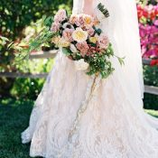 Romantic Garden Wedding with a Lace Dress