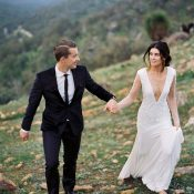 Custom Wedding Dress for an Intimate Mountain Wedding