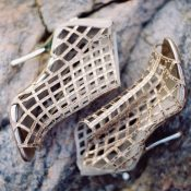 Metallic Cage Booties for a High Fashion Elopement