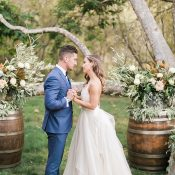 Romantic Rustic Ceremony Decor for a California Ranch Wedding