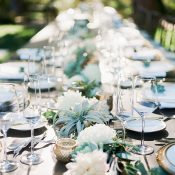 Farm Table with a Succulent and Air Plant Runner