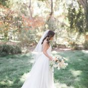 California Ranch Wedding with a Modern Wedding Dress