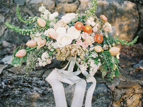 Peach Spring Bridal Bouquet