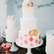 Citrus Wedding Cake with Spanish Inspired Patterns