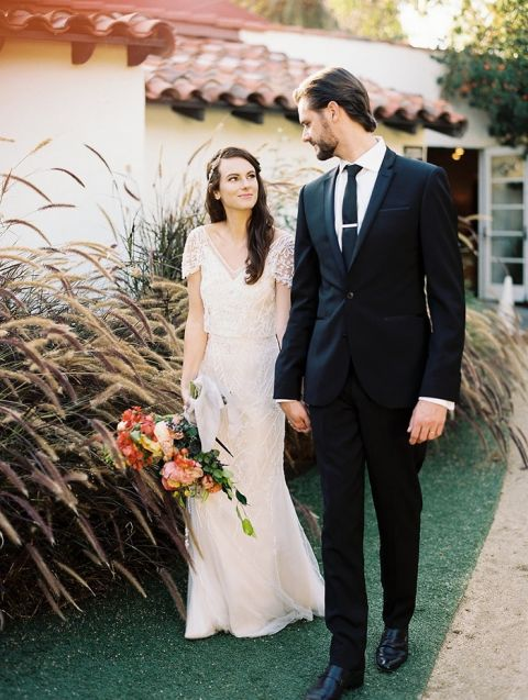 Vintage Colored Wedding Dresses 61 Superb Colorful Spanish Villa Wedding