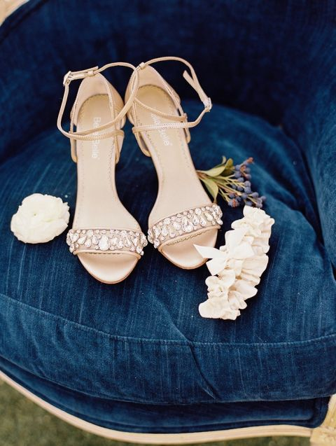 Nude Crystal Wedding Shoes