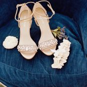 Nude Crystal Wedding Shoes