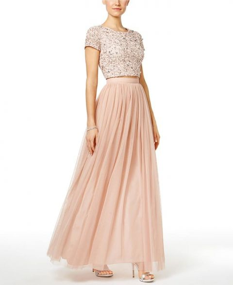 Boho Blush Pink Wedding Dresses 2017 Pretty 3d Flower Lace: 5 Sequin Bridesmaid Dresses For Any Wedding