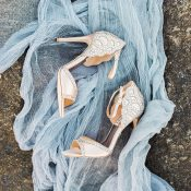 Sparkling Wedding Shoes for a Mermaid Bride