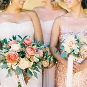 Stylish Summer Winery Wedding in Rose Gold and Blush