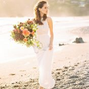 Graceful Beach Bridal Shoot at Sunrise