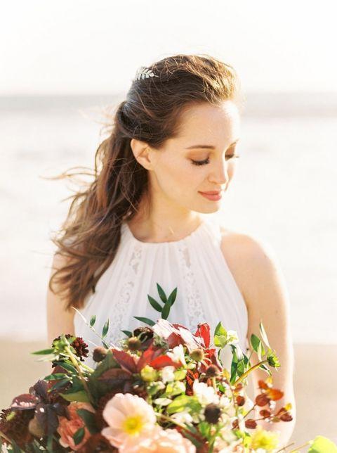Elegant Natural Beach Bridal Makeup