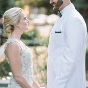 Black Tie Glam Wedding in Charleston with a Hayley Paige Dress