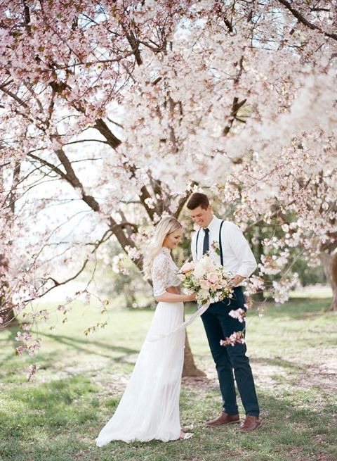 Dc Cherry Blossom Wedding Shoot On Film