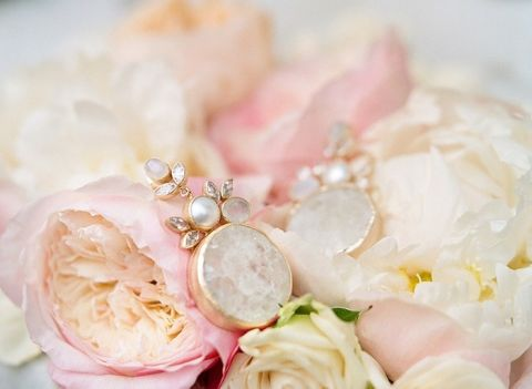 Pearl and Crystal Bridal Statement Earrings