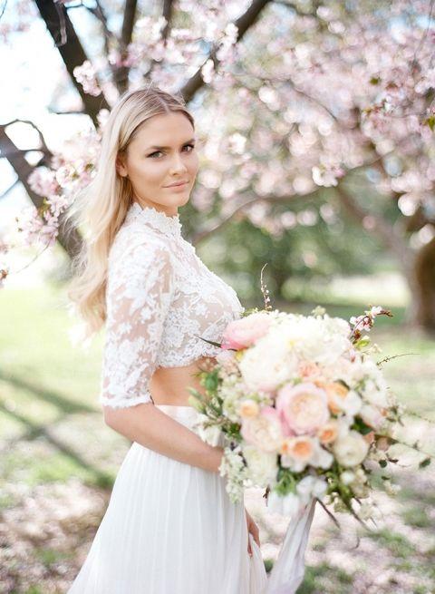 Preferred DC Cherry Blossom Wedding Shoot on Film - Hey Wedding Lady CD15