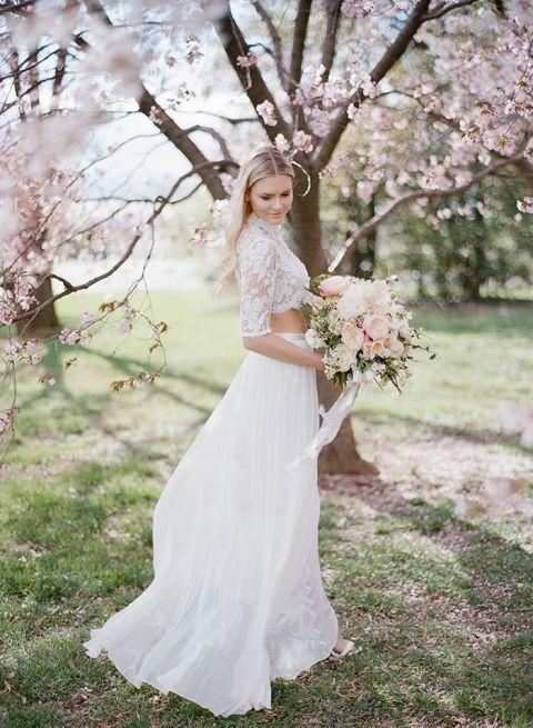 Top DC Cherry Blossom Wedding Shoot on Film - Hey Wedding Lady GK74