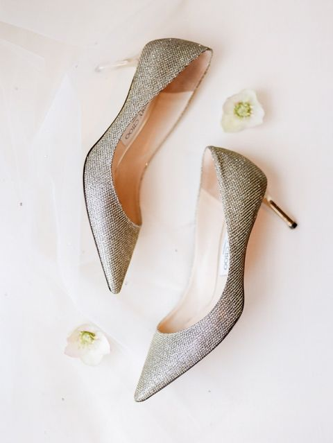 Silver Glitter Wedding Shoes