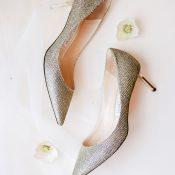Silver Glitter Wedding Shoes