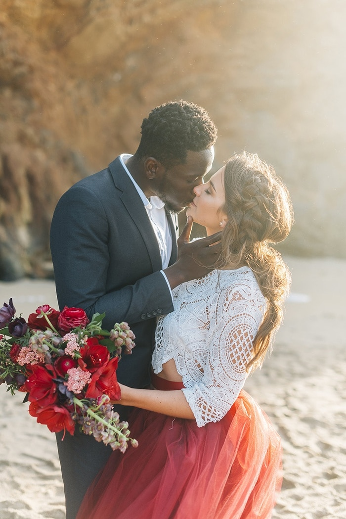 Bold Bohemian Beach Wedding Shoot - Hey Wedding Lady