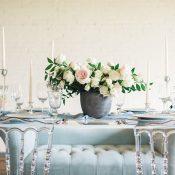 Concrete Planter for an Industrial Wedding Centerpiece