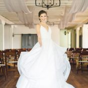 Bride Twirling in a Hayley Paige Wedding Dress