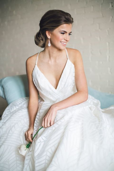 Geometric Pattern Hayley Paige Wedding Dress