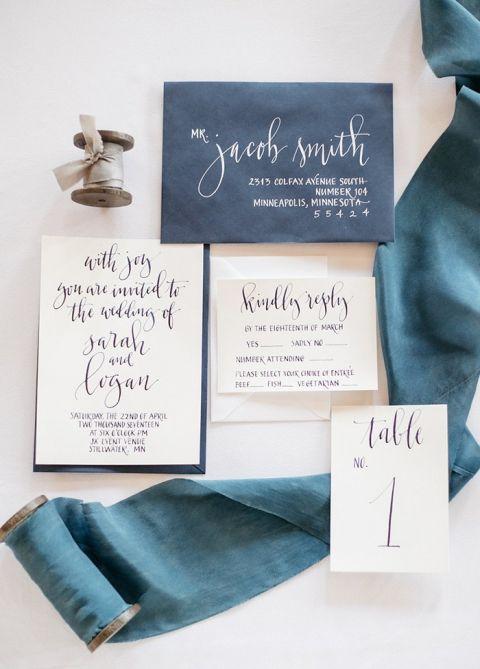 Indigo Ink Wedding Invitations