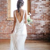 Simple and Elegant Open Back Wedding Dress
