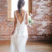 Simple and Elegant Open Back Wedding Dress