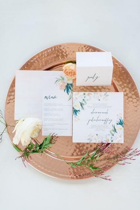 Colorful Watercolor Wedding Stationery Suite
